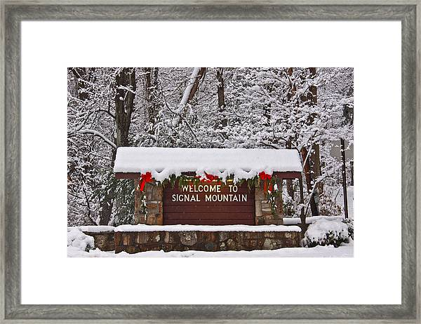 Welcome To Signal Mountain Framed Print