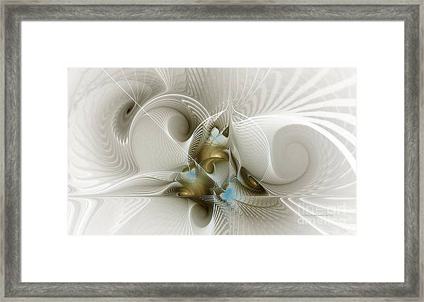Welcome To The Second Floor-fractal Art Framed Print