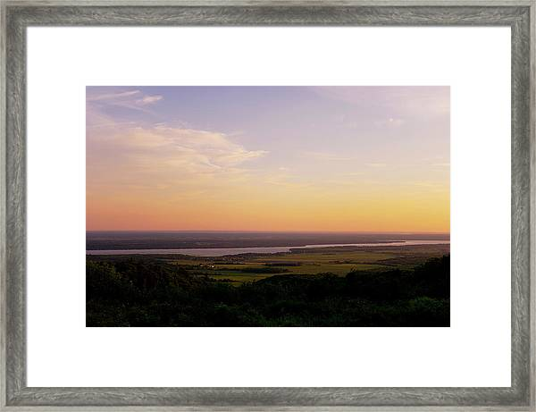 Welcome To The Valley Framed Print