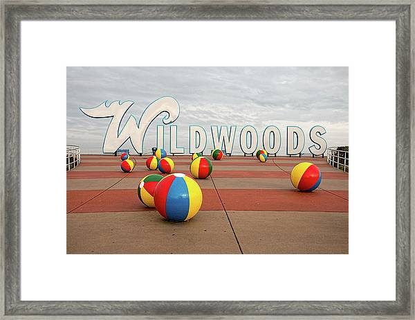 Welcome To The Wildwoods Framed Print