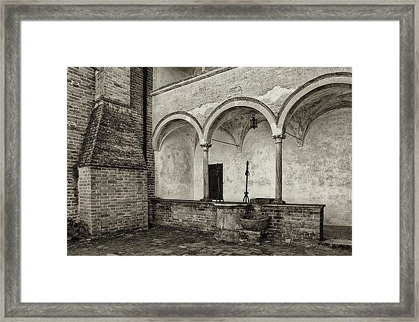 Well And Arcade Framed Print