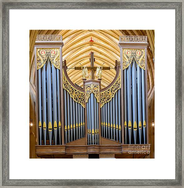 Wells Cathedral Organ Framed Print