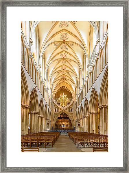 Wells Cathedral Nave Framed Print