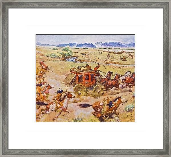 Wells Fargo Express Old Western Framed Print