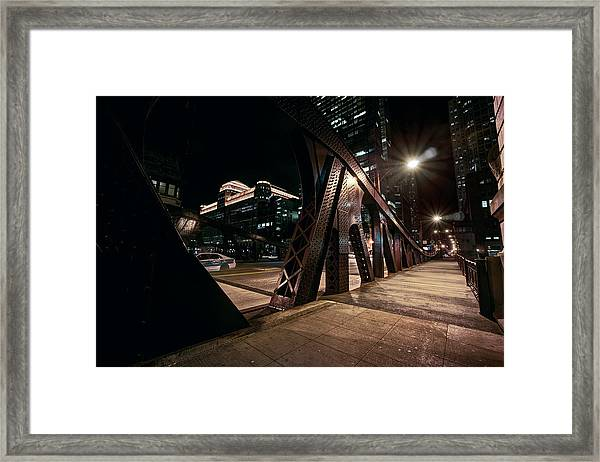 Wells Street Bridge - Chicago Framed Print