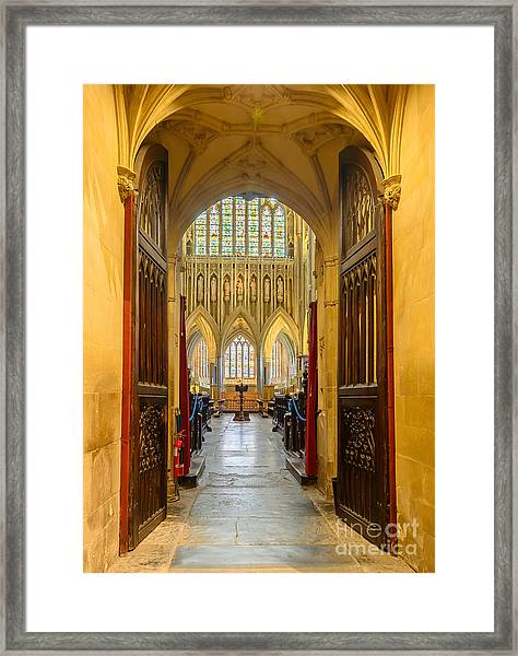 Wellscathedral, The Quire Framed Print