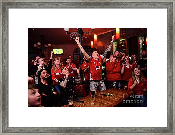 Welsh Rugby Fans Framed Print