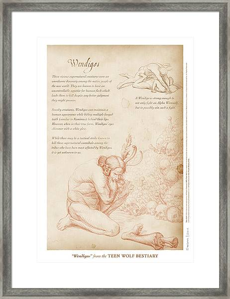 Wendigos Framed Print