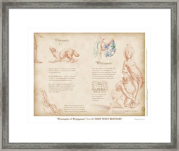Werecoyotes And Werejaguars Framed Print