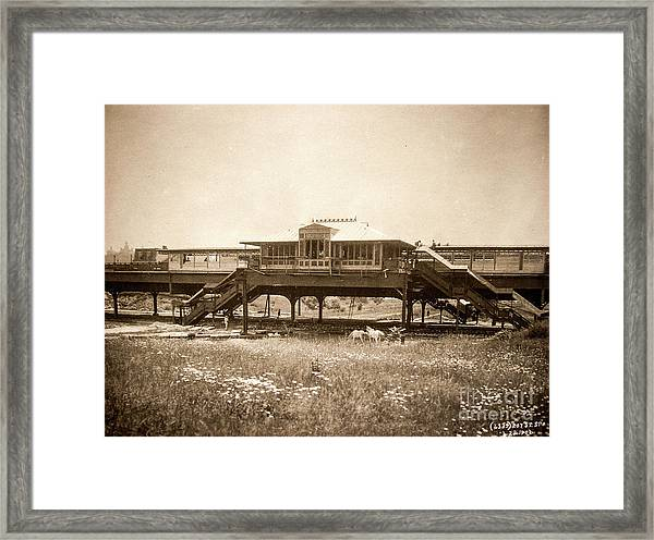 West 207th Street, 1906 Framed Print
