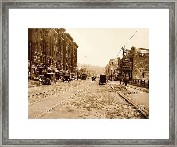 West 207th Street, 1928 Framed Print
