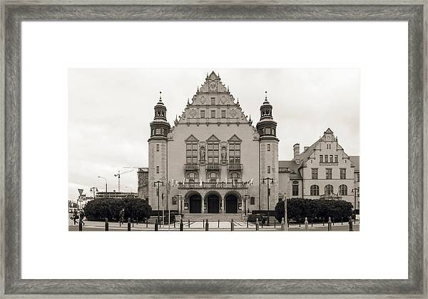 West Facade Of Adam Mickiewicz University Poznan Poland Framed Print