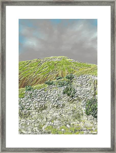 West Of The Hill Country Framed Print