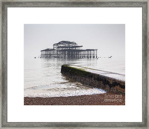 West Pier At Brighton Framed Print by Colin and Linda McKie