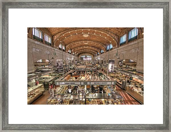 West Side Market Framed Print
