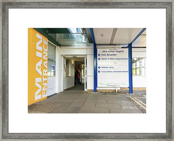 West Suffolk Hospital Framed Print
