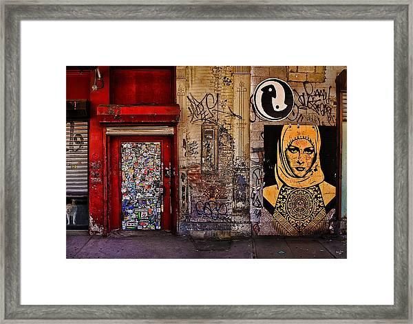 West Village Wall Nyc Framed Print