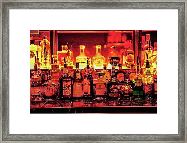 Framed Print featuring the photograph West Wing Bar by Scott Cordell