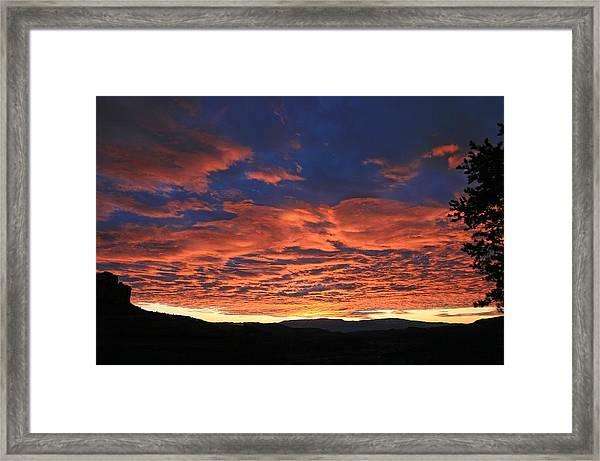 Western Day's End Framed Print