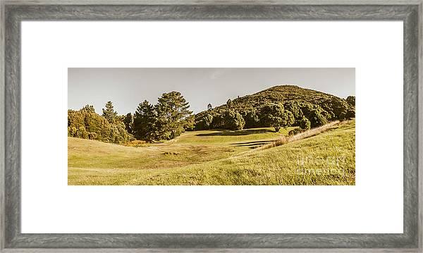 Western Tasmania Grassland Panorama Framed Print