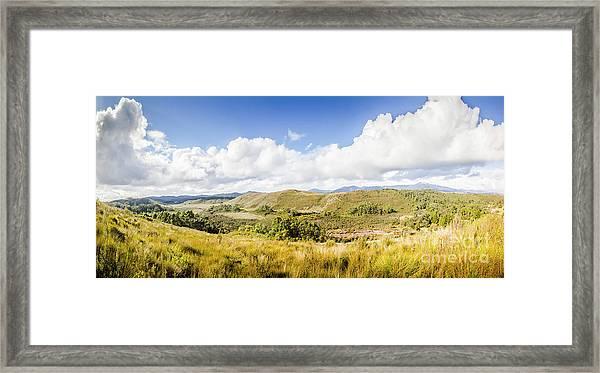 Western Tasmania Panorama Framed Print