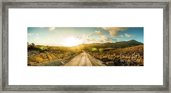 Western Way Framed Print