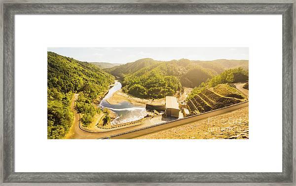 Western Wilderness Hydro Dam Framed Print