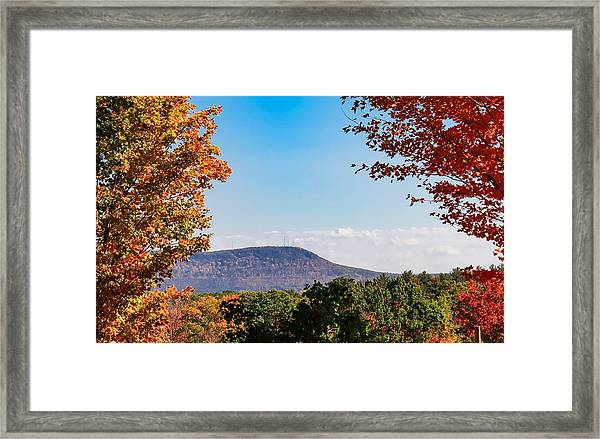 Westhampton View Of Mount Tom Framed Print