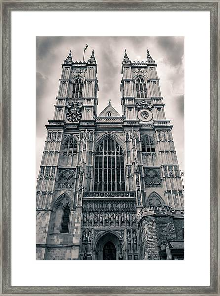 Westminister Abbey Bw Framed Print