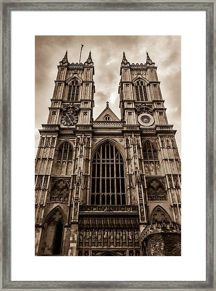 Westminister Abbey Sepia Framed Print