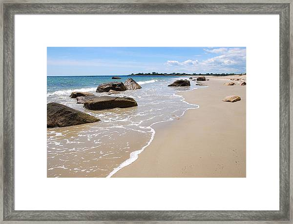 Westport Harbor Low Tide Framed Print