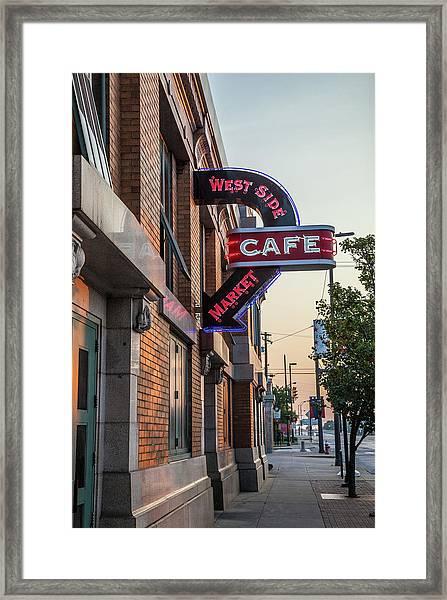 Westsidemarketcafe Framed Print