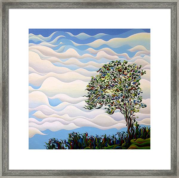 Westward Yearning Tree Framed Print