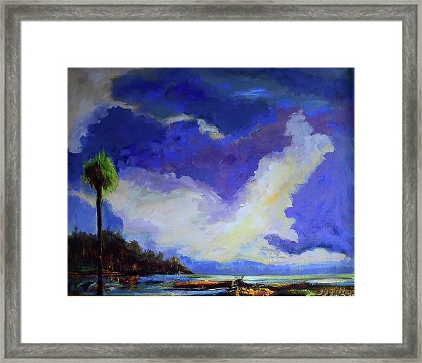Wetlands Sky  Framed Print
