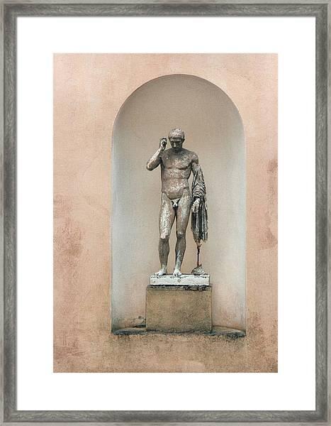 What A Man Framed Print