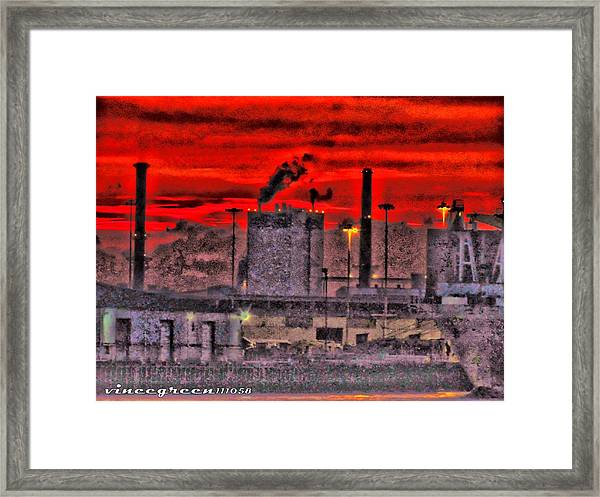 Port Of Savannah Framed Print