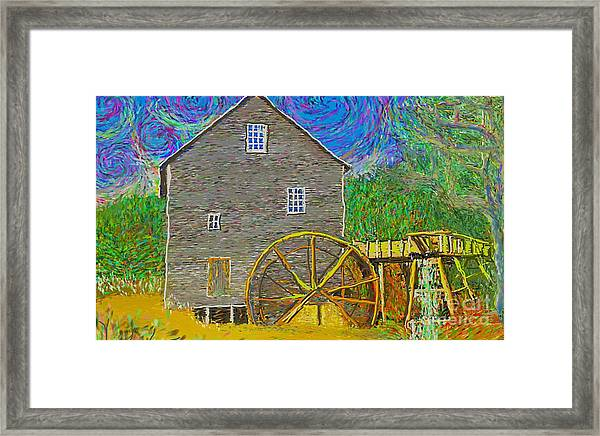 Water Wheel  Framed Print