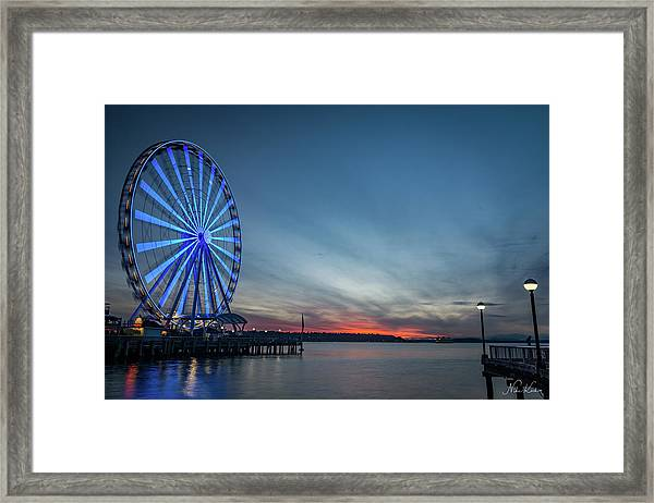 Wheel On The Pier Framed Print