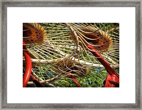 Wheel Rake Abstract Framed Print
