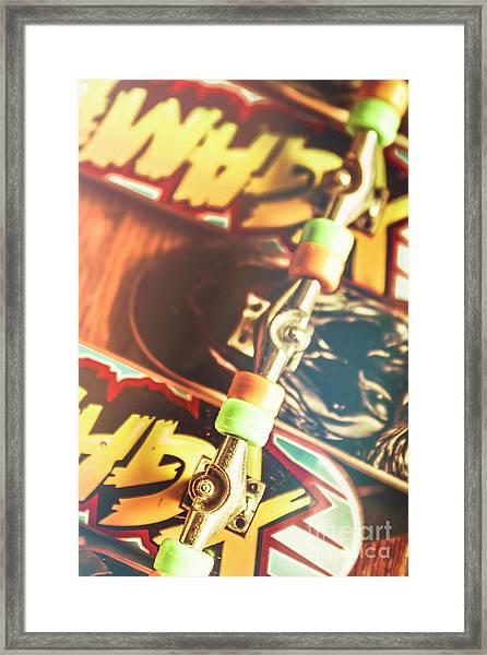 Wheels Trucks And Skate Decks Framed Print