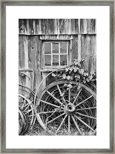 Wheels Wheels And More Wheels Framed Print