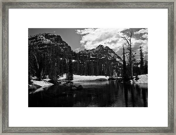 Whelp Lake, Mission Mountains Framed Print