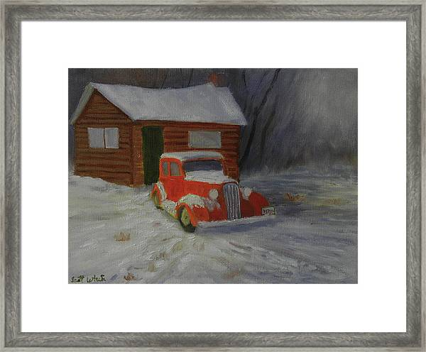 When Cars Were Big And Homes Were Small Framed Print
