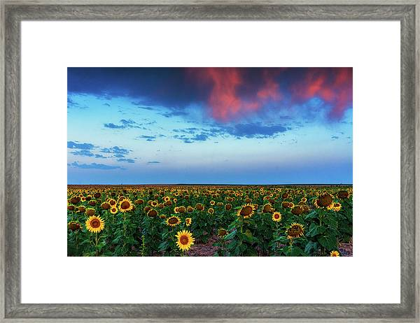 Framed Print featuring the photograph When Clouds Dance by John De Bord