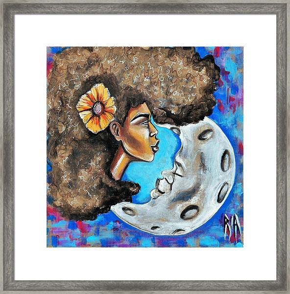 When He Gave You The Moon Framed Print