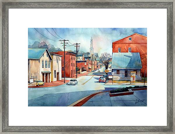 When The Fog Lifts Framed Print