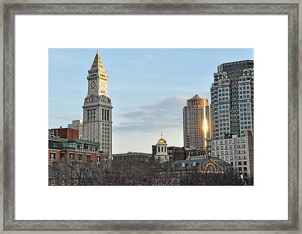 When The Lights Go Down In The City Framed Print
