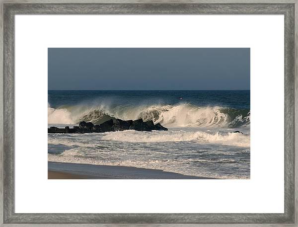 When The Ocean Speaks - Jersey Shore Framed Print