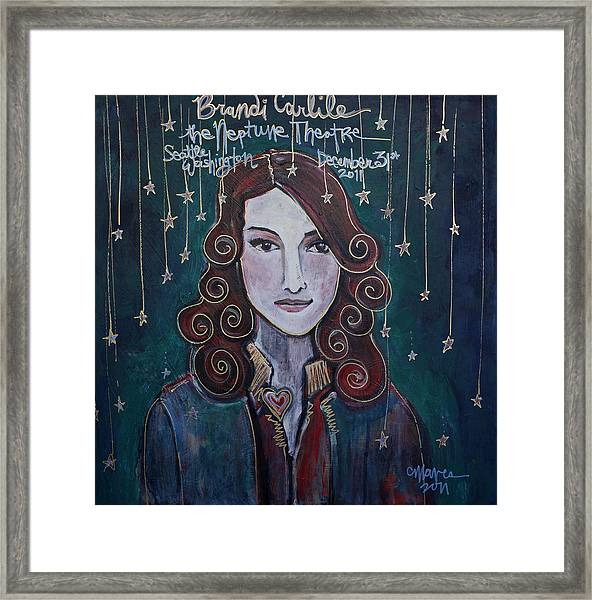 When The Stars Fall For Brandi Carlile Framed Print