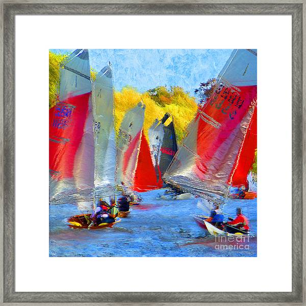 When The Wind Blows Framed Print